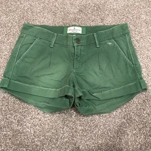 Abercrombie and Fitch green shorts